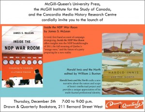 Book Launch, December 5